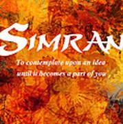 Simran Art Print