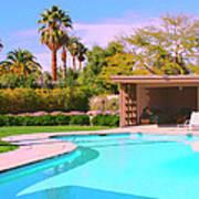 Sinatra Pool Cabana Palm Springs Art Print