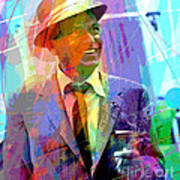 Sinatra Swings Art Print by David Lloyd Glover