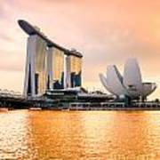 Singapore - Marina Bay Sand Art Print
