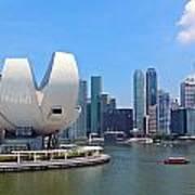 Singapore Artscience Museum And City Skyline Art Print