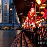 Singapore Boat Quay 03 Art Print