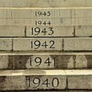 Singapore Cenotaph Monument Yearly Steps For World War Two Art Print