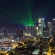 Singapore Central Business District Skyline Art Print