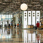 Singapore Changi Airport 02 Art Print by Rick Piper Photography