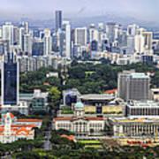 Singapore City Aerial View Art Print