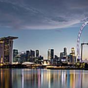 Singapore Skyline At Dusk Art Print