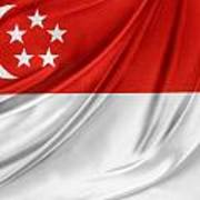 Singaporean Flag Art Print