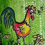 Singing Chicken  Art Print