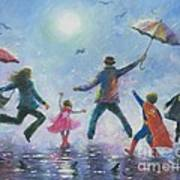 Singing In The Rain Super Hero Kids Art Print