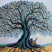 Singing Under The Blues Tree Art Print