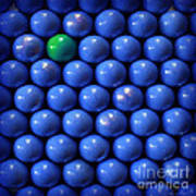 Single Green Ball Art Print
