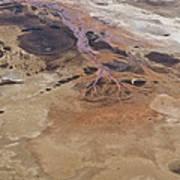 Sinkholes In Southern Dead Sea Area Art Print by Ofir Ben Tov