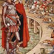 Sir Galahad Is Brought To The Court Of King Arthur Art Print
