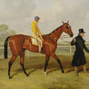 Sir Tatton Sykes Leading In The Horse Sir Tatton Sykes With William Scott Up Art Print