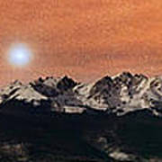Sirius Diffusion Over The Gore Range Art Print by Mike Berenson