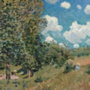 Sisley The Road, 1875 Art Print