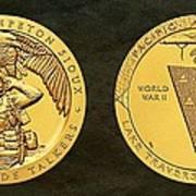 Sisseton Wahpeton Oyate Sioux Tribe Code Talkers Bronze Medal Art Art Print