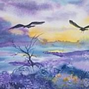 Sister Ravens Art Print