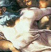 Sistine Chapel Ceiling Creation Of Adam Art Print by Michelangelo Buonarroti
