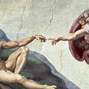 Sistine Chapel Ceiling Art Print by Michelangelo Buonarroti