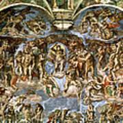 Sistine Chapel The Last Judgement, 1538-41 Fresco Pre-restoration Art Print