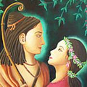 Sita Rama In The Forest Art Print