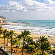 Sitges Spain On The Mediterranean Coast Art Print