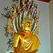 Sitting Buddha In Wat Po In Bangkok-thailand Art Print