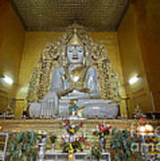 sitting Buddha made from one single marble block in KYAUKTAWGYI PAGODA Art Print