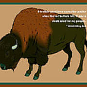 Sitting Bull Buffalo Art Print