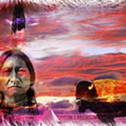 Sitting Bull Print by Mal Bray