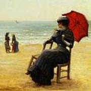 Sitting By The Sea Art Print