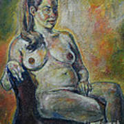 Sitting Nude Art Print