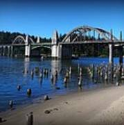 Siuslaw River Bridge Oregon Art Print