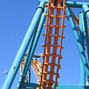 Six Flags America - Two-face Roller Coaster - 12122 Art Print