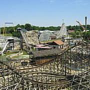 Six Flags America - Wild One Roller Coaster - 121210 Art Print
