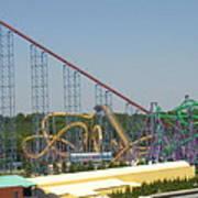 Six Flags America - Wild One Roller Coaster - 12123 Art Print