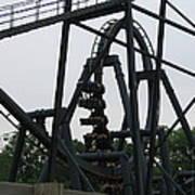 Six Flags Great Adventure - Medusa Roller Coaster - 12124 Art Print