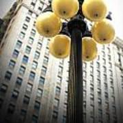 Six Light Lamp Post Art Print