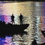 Six On A Boat Art Print