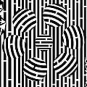 Six Shooter Illusion Maze  Art Print