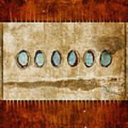 Six Turquoise Moons Art Print
