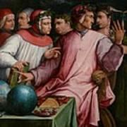 Six Tuscan Poets Art Print by Giorgio Vasari