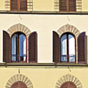 Six Windows Of Florence Art Print