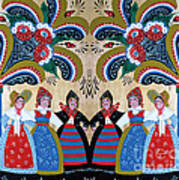 Six Women Dancing Art Print