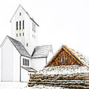 Skalholt Church Art Print