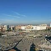 Skanderberg Square In Tirana Albania Art Print