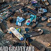 Skateboard Graveyard London England Poster Art Print