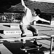 skateboarder at the undercroft skate park of the southbank centre London England UK Art Print